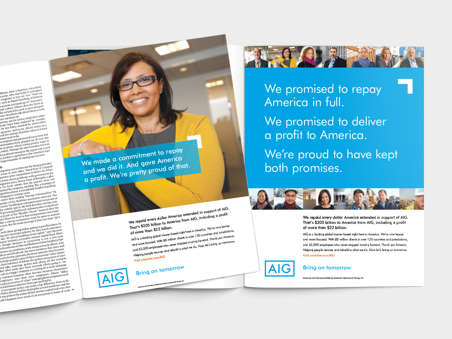 AIG Case Study Print Thank you Campaign
