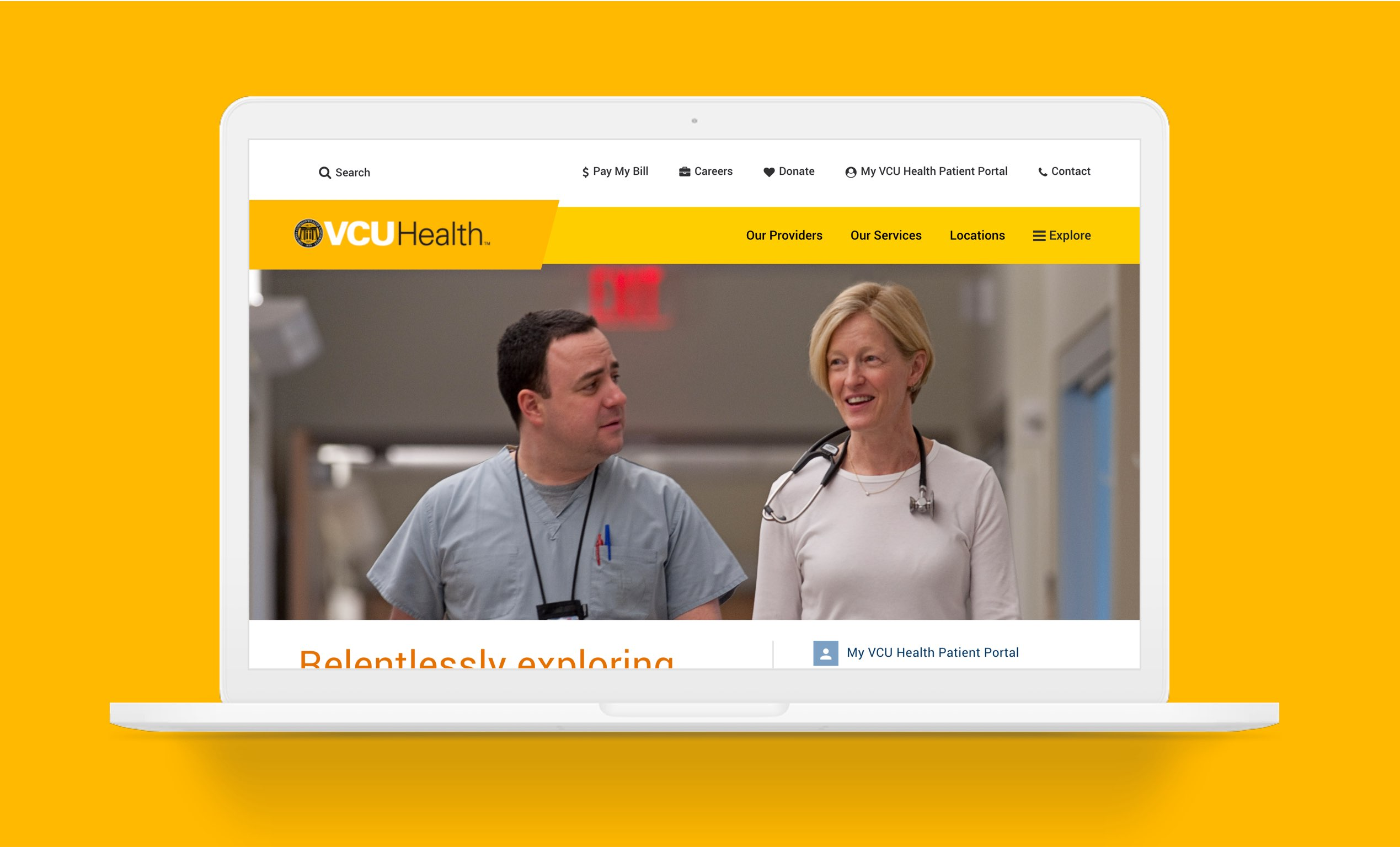 VCU Homepage Laptop Image
